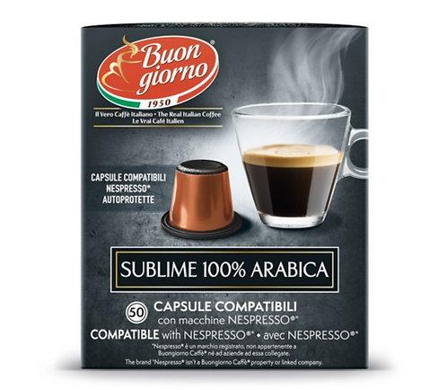 Nespresso Sublime Arabica capsules branded Caffè Buongiorno