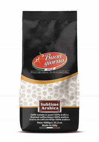 Sublime Nero in beans of the Buongiorno Coffee brand