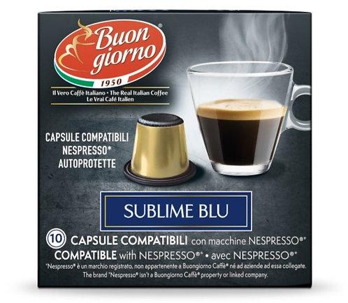 Nespresso Sublime Blu capsules branded Caffè Buongiorno