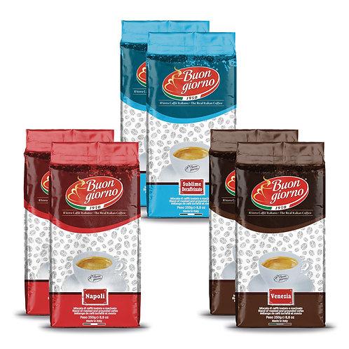 Kit di assaggio Caffè Macinato a marchio Caffè Buongiorno