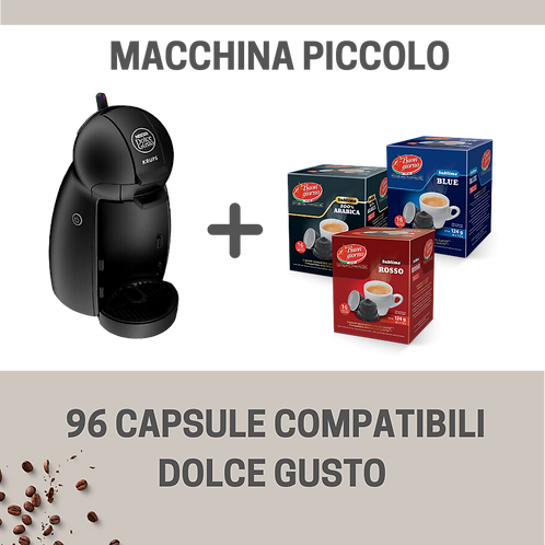 Macchina Piccolo Dolce Gusto® + 96 Capsule