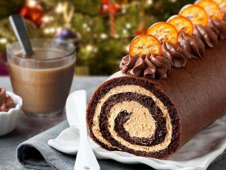 Chocolate & Coffee Christmas Log