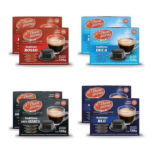 Kit Assaggio compatibili A Modo Mio in capsule a marchio Caffè Buongiorno