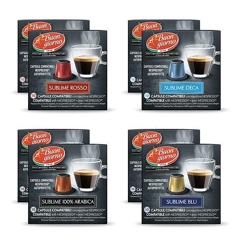 Kit Assaggio Nespresso in capsule a marchio Caffè Buongiorno
