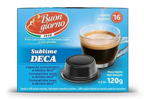A Modo Mio Decaffeinated capsules branded Caffè Buongiorno
