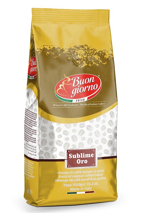 Caffè in grani, miscela Sublime Oro a marchio Caffè Buongiorno