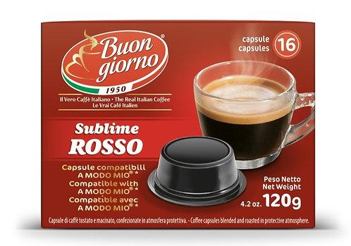 A Modo Mio Sublime Rosso capsules branded Caffè Buongiorno