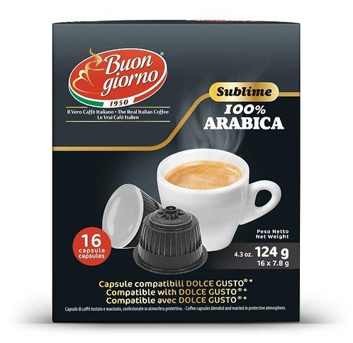 Dolce Gusto Arabica capsules branded Caffè Buongiorno