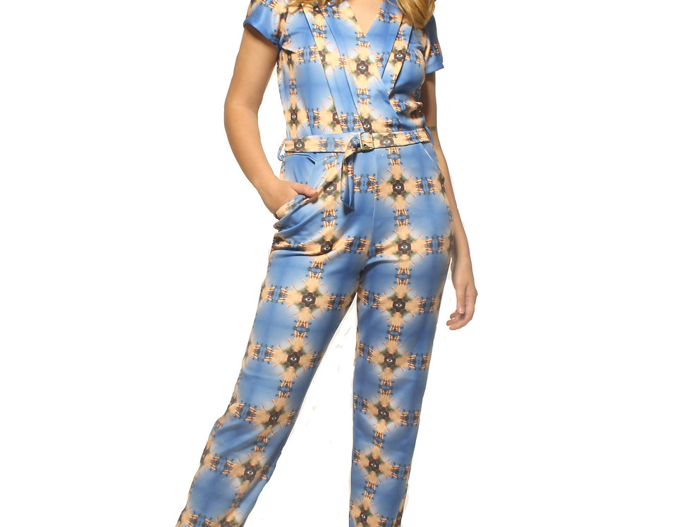 Blue Hands Jumpsuit