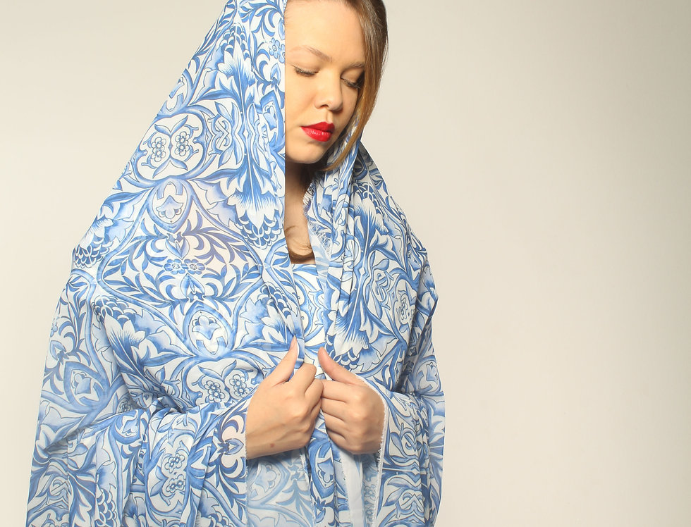 Tile Print Silk Vest