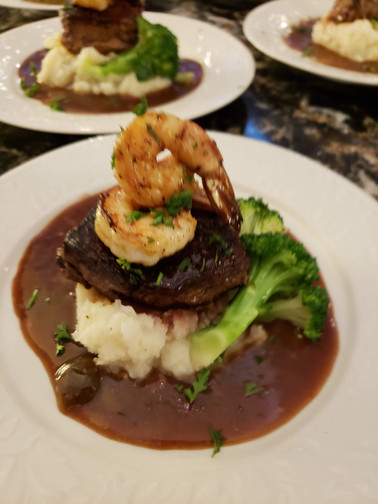 A unique surf and turf dish