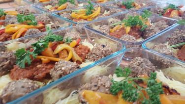 Beautiful prepared meals