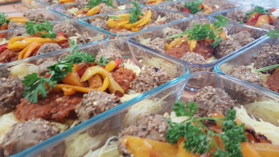Beautiful prepared meals