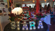 Themed decor for a girl's party.