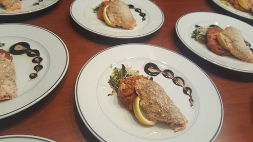 Local fish served during a private dinner party.