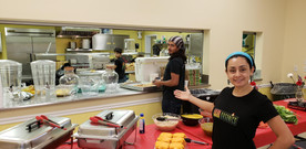 Chef Mike SRQ team at a commercial kitchen