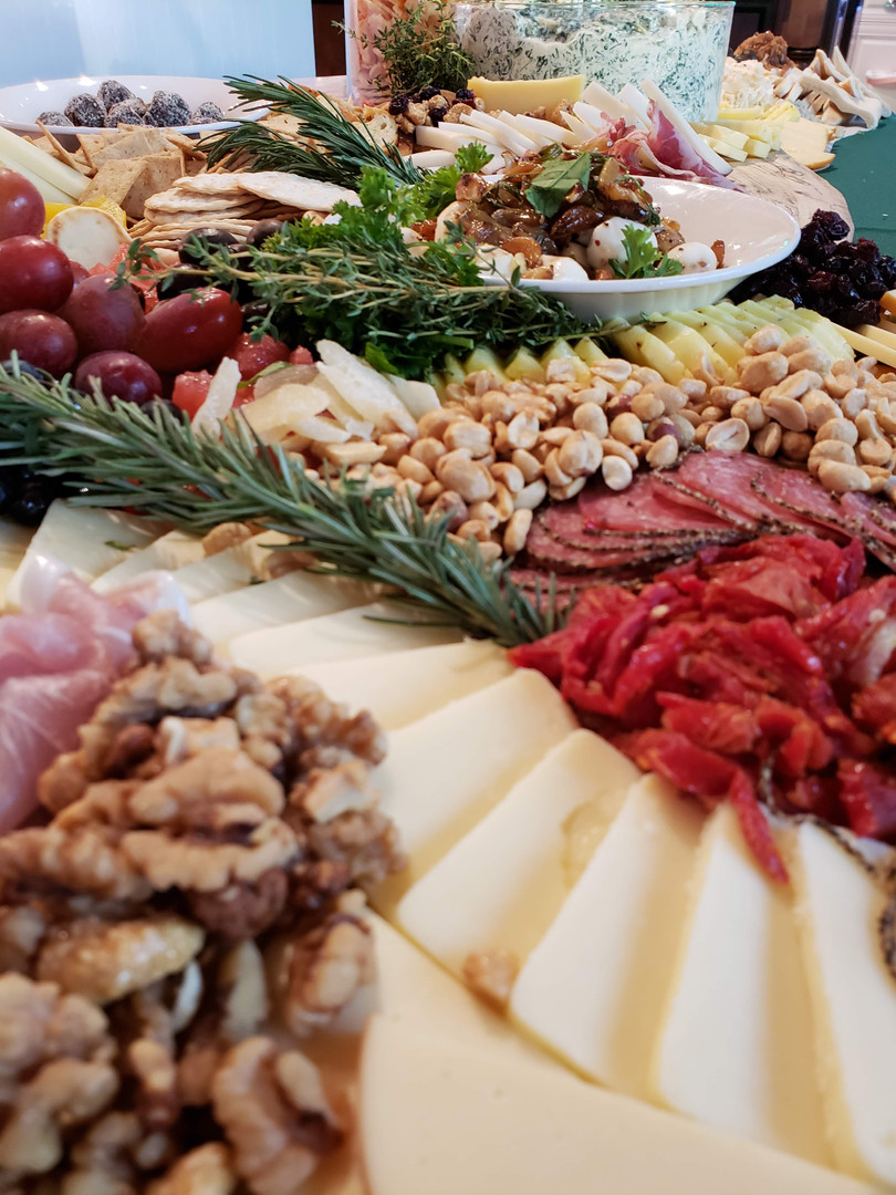 Charcuterie display for a private cocktail party in Sarasota, FL