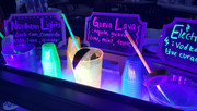 Glow in the dark bar with themed cocktails.