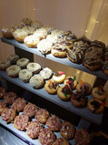 Donut arrangment by Chef Mike.