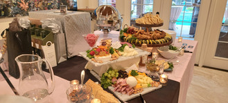 grazing table at a Lakewood ranch wedding