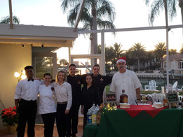 Chef Mike and his team at a Christmas themed Party