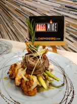 A unique spin on the classic Surf and Turf recipe by Chef Mike Donnerstag, Sarasota's Premeir Chef