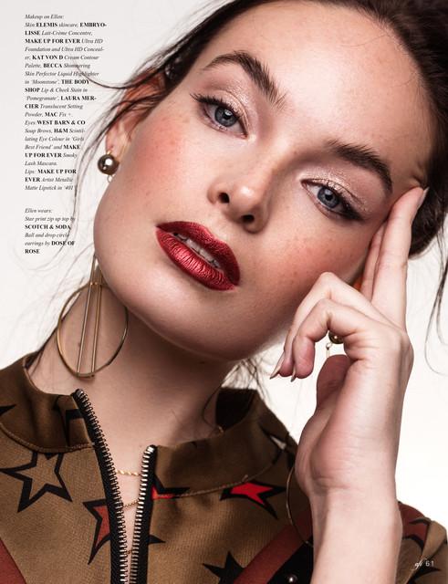 Shine like a star - Beauty editorial for AFI Magazine
