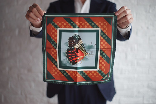 The Gaudery - The tripping butterfly pocket square
