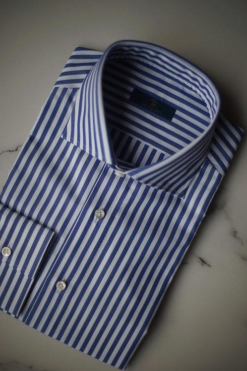 Cotton Blue Striped Shirt