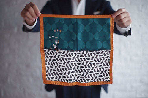 The Gaudery - L'equilibriste Pocket Square