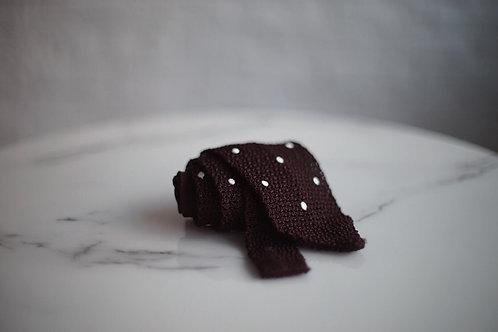 Gentlemenclover - Knitted Silk Polka Dot Tie