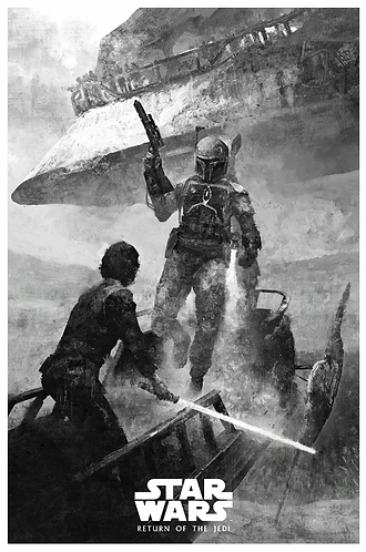Star Wars | Return of the Jedi | Black and White Variant