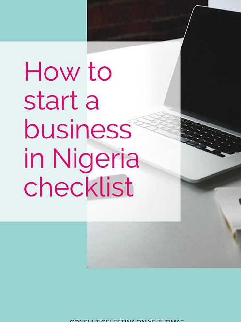 CHECKLIST: Nigeria Start your business