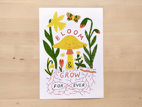 Bloom & Grow Forever A4 Print