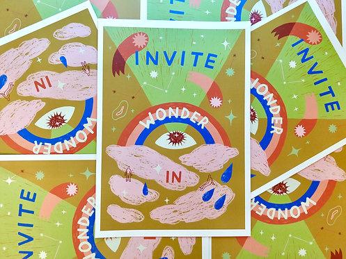 Invite Wonder In A3 Print