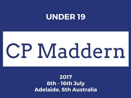Victorian U19 State Team for 2017 announced!