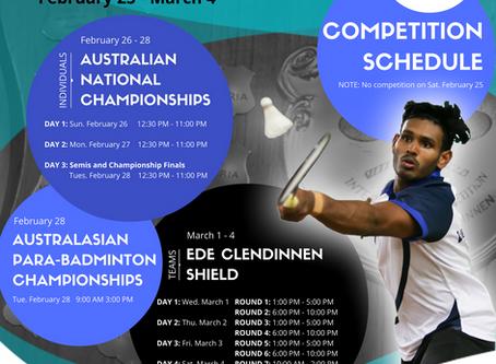 2017 Ede Clendinnen Shield & Australia National Championships (incorporating the Australian Para