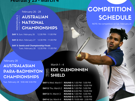 2017 Ede Clendinnen Shield & Australia National Championships (incorporating the Australian Para