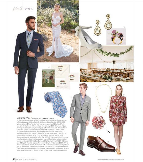 Casual doesn't infer sloppy. Tailored suits and chic day dresses are excellent options for a Zingerman's Cornman Farms wedding and reception in Dexter.