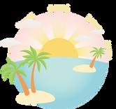 Flat Design Island