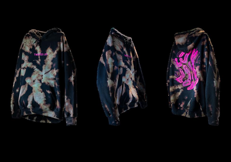 twisted lov tie dye hoodie