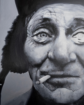 Unfinished Old Man Painting