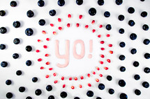Typography and Photography with Fruit and Yogurt