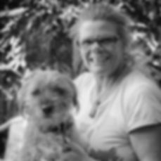 Dr Nicole Lobry de Bruyn, dog and cat veterinary behaviourist with Border Terrier