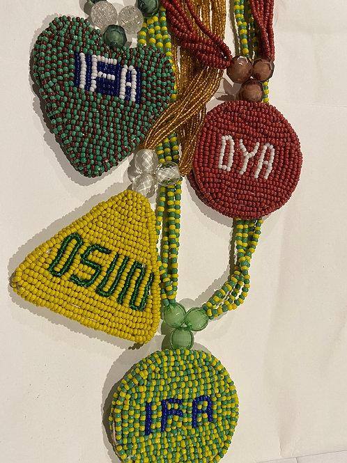 Orisha Beaded Medallion Eleke (all orisha available)