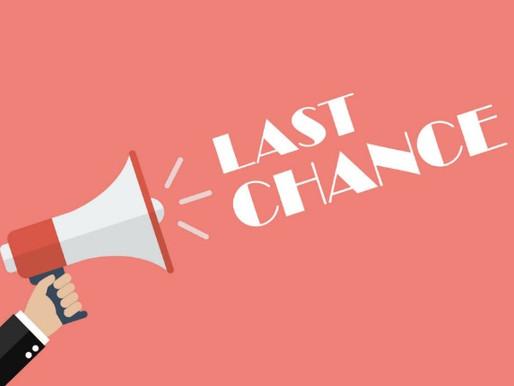 Speak Now ... Last Day to Take Employee Engagement Survey