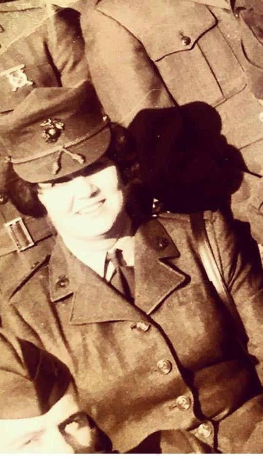 Connie Gilbert U.S. Marine Corps (mom),