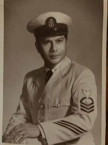 C.P.O.  David Gomez, U.S. Navy (father),