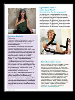 Sample newsletter interior