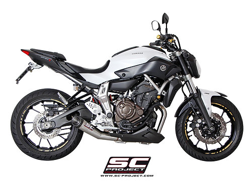 SC-Project FULL SYSTEM 2-1 with CONIC SILENCER YAMAHA MT-07